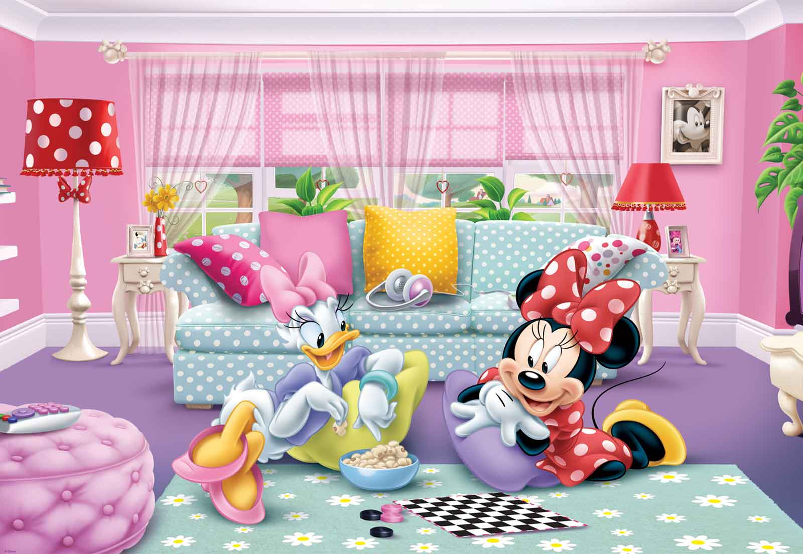 Minnie mouse disney wall mural photo wallpaper mi wm ebay for Cn mural designs