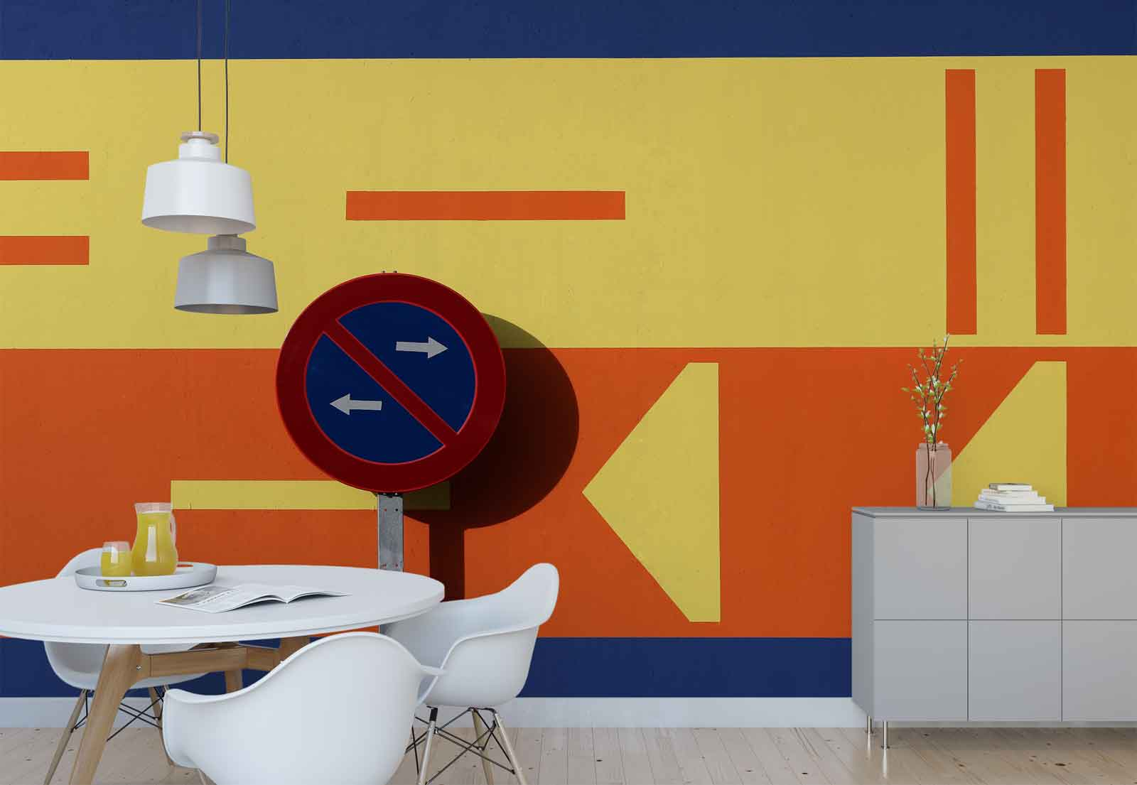 Road Traffic Signs Arrows Direction Photo Wallpaper Wall Mural (1X-1065717)