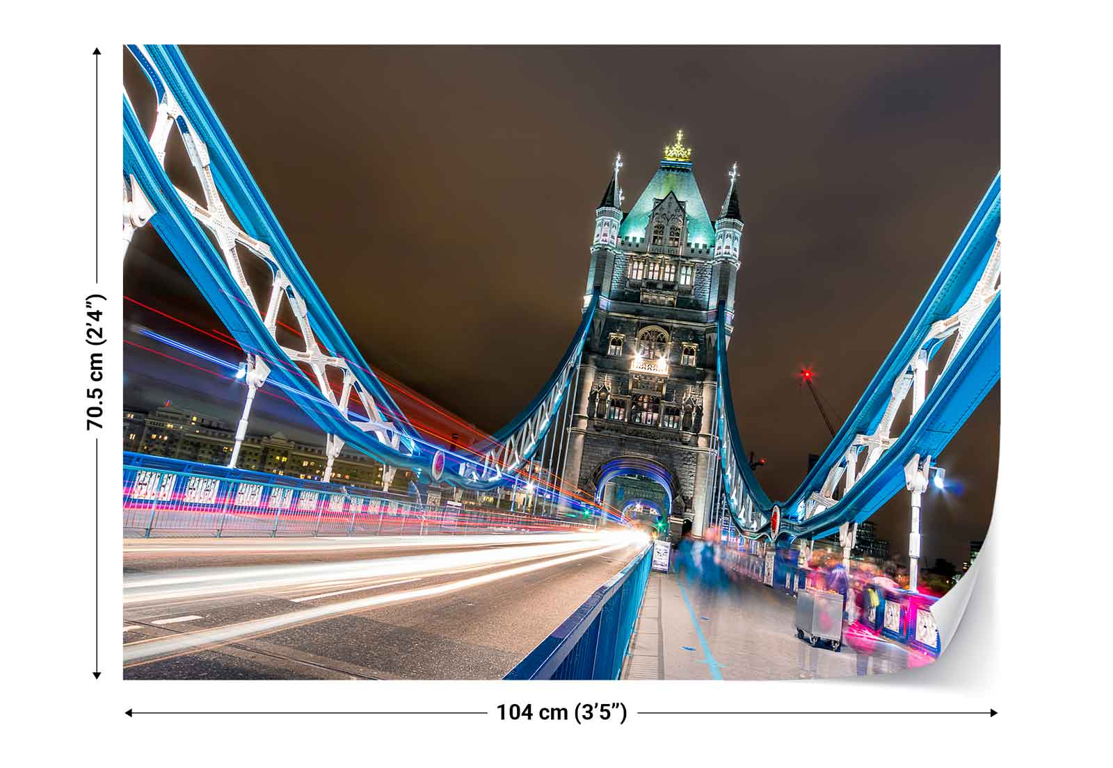 London tower bridge city fluorescent lights photo for City lights mural