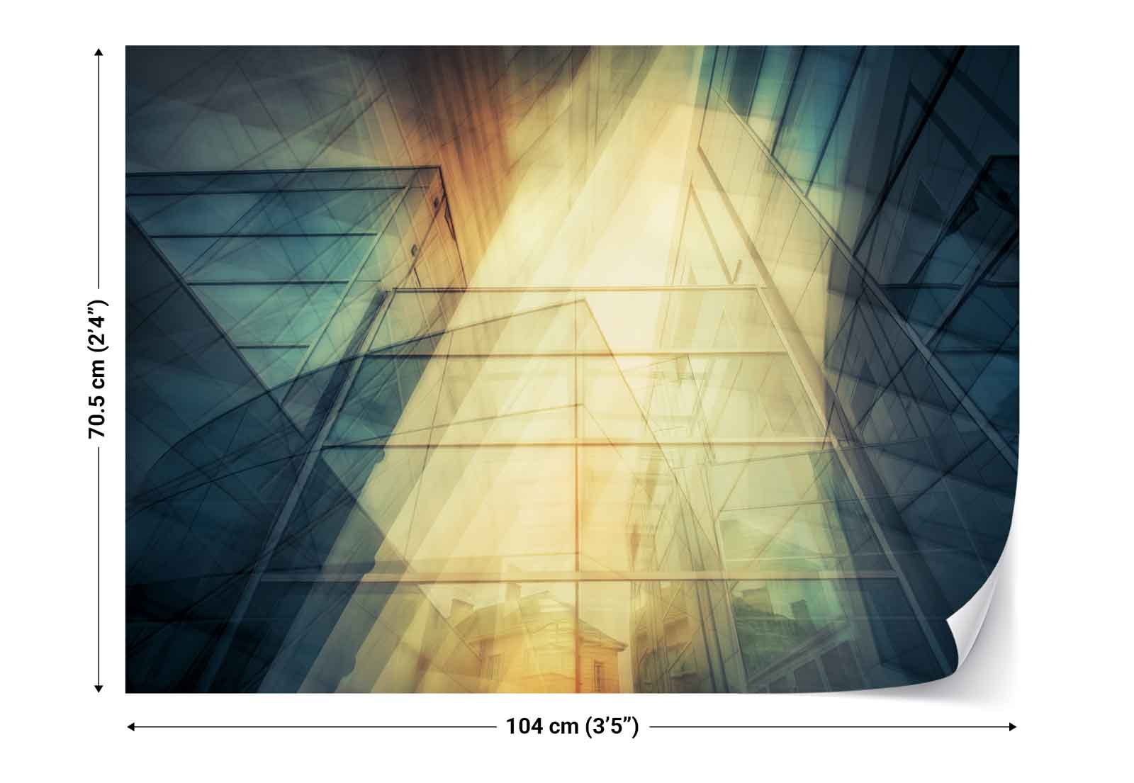 Building glass facades reflection photo wallpaper wall for Building wall mural
