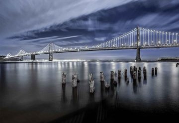 The Bay Bridge Lights San Francisco