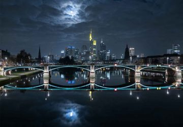 Frankfurt At Full Moon