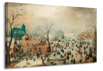 Winter Landscape With Skaters, Hendrick Avercamp
