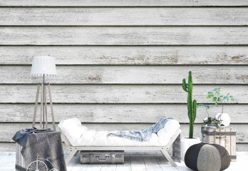 White Wood Wall