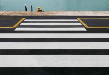 Zebra Crossing To The Sea