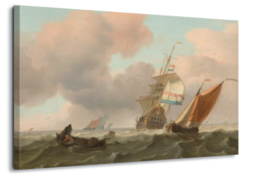 Rough Sea With Ships, Ludolf Bakhuysen
