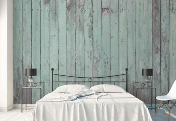 Turquoise Painted Planks