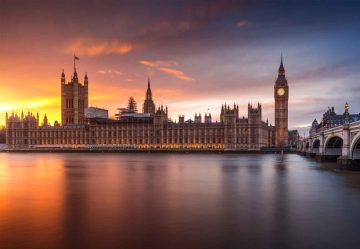 London Palace Of Westminster Sunset