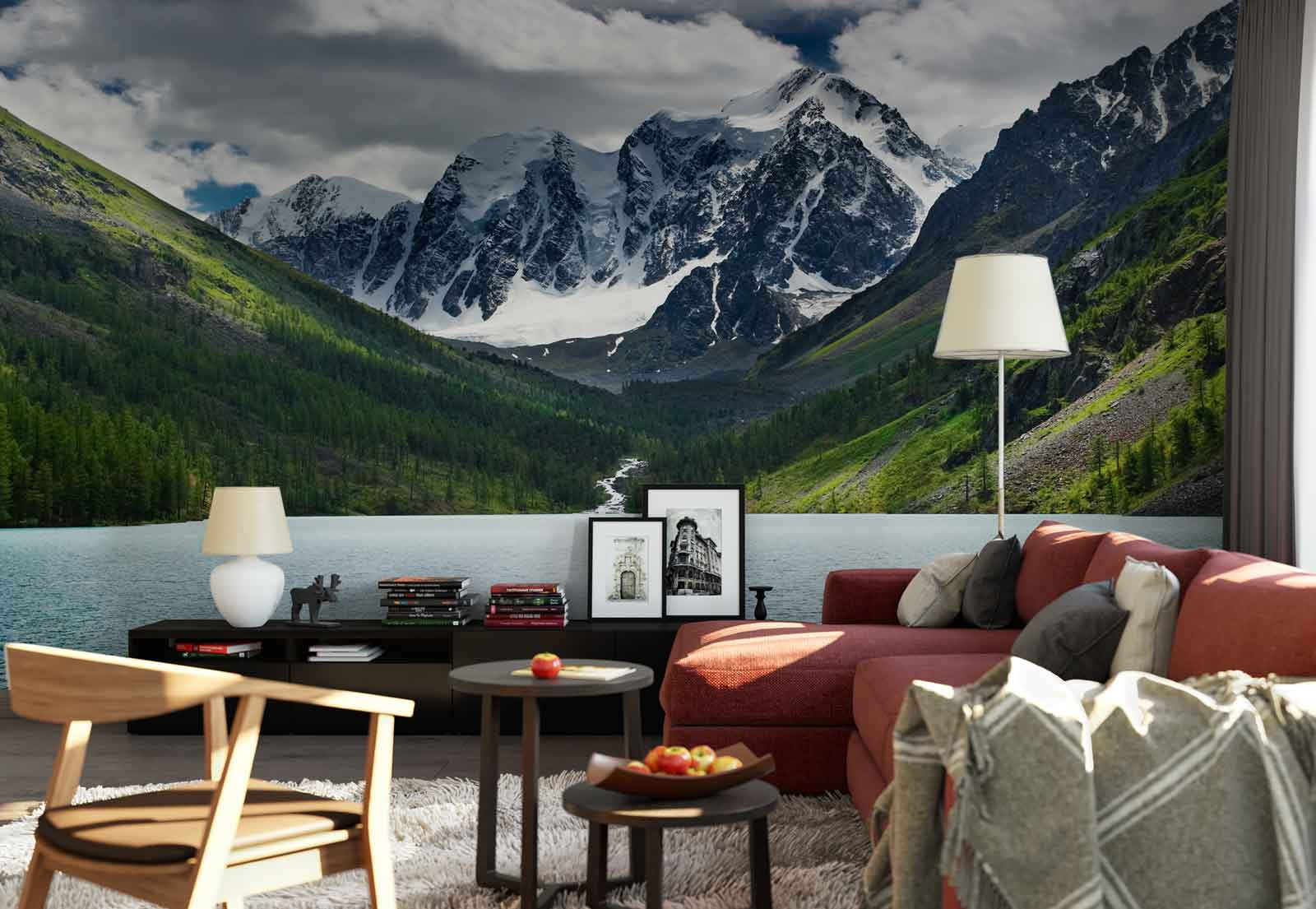 Lake mountains snow photo wallpaper wall mural fw 1062 ebay lake mountains snow photo wallpaper wall mural fw amipublicfo Gallery