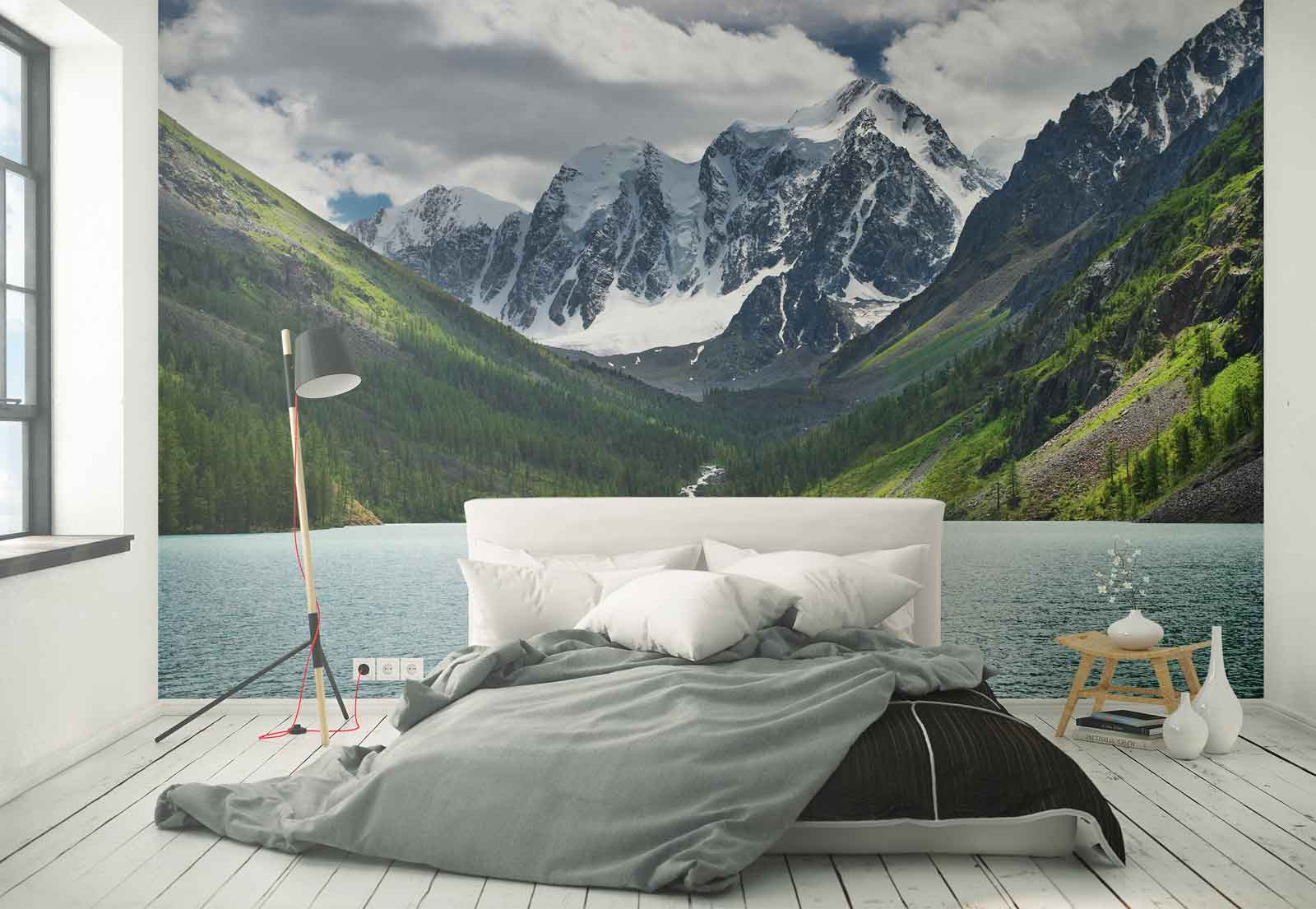 Lake mountains snow photo wallpaper wall mural fw 1062 ebay image is loading lake mountains snow photo wallpaper wall mural fw amipublicfo Gallery