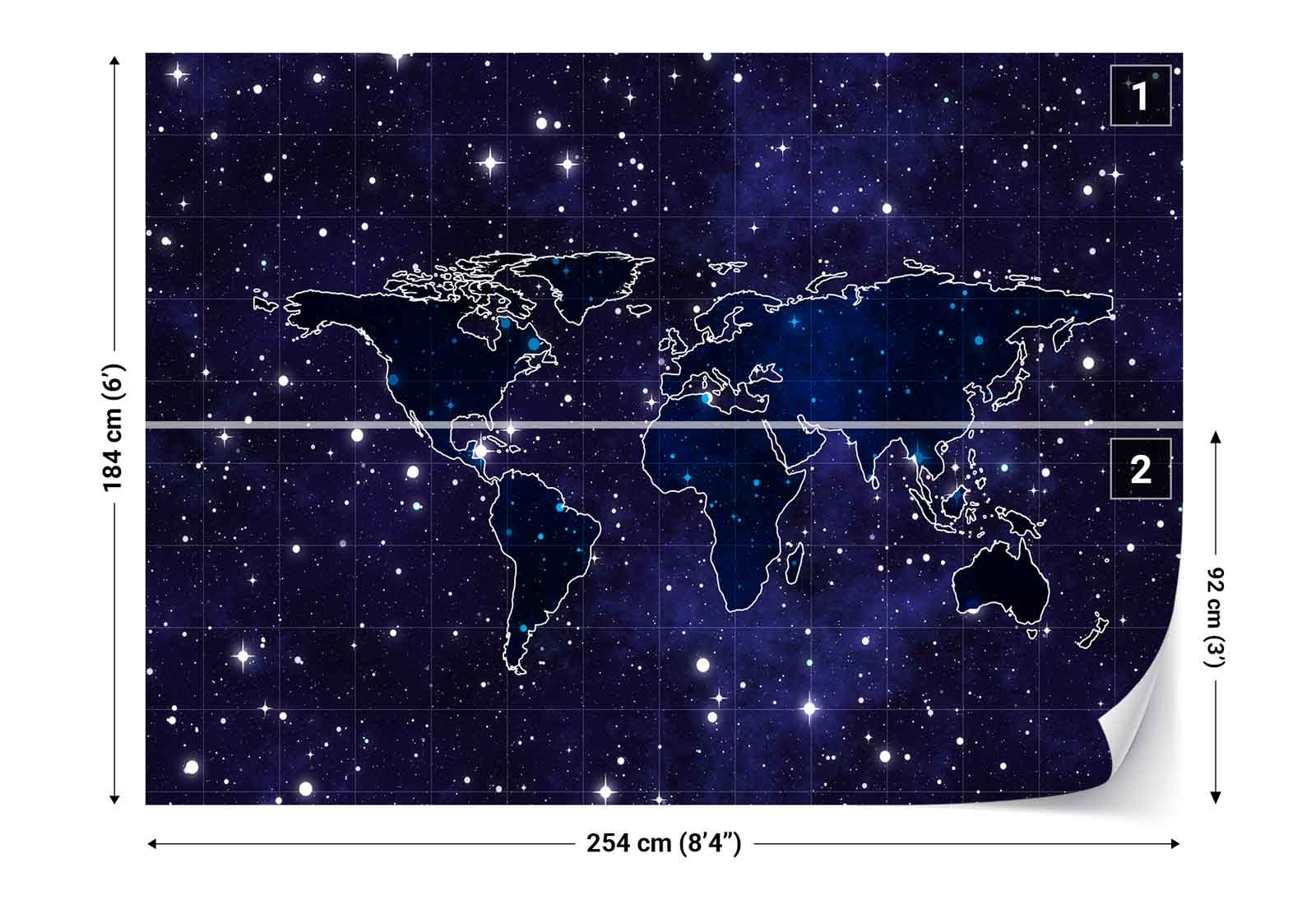 World map night sky background photo wallpaper wall mural fw 1134 resntentobalflowflowcomponenttechnicalissues gumiabroncs Image collections