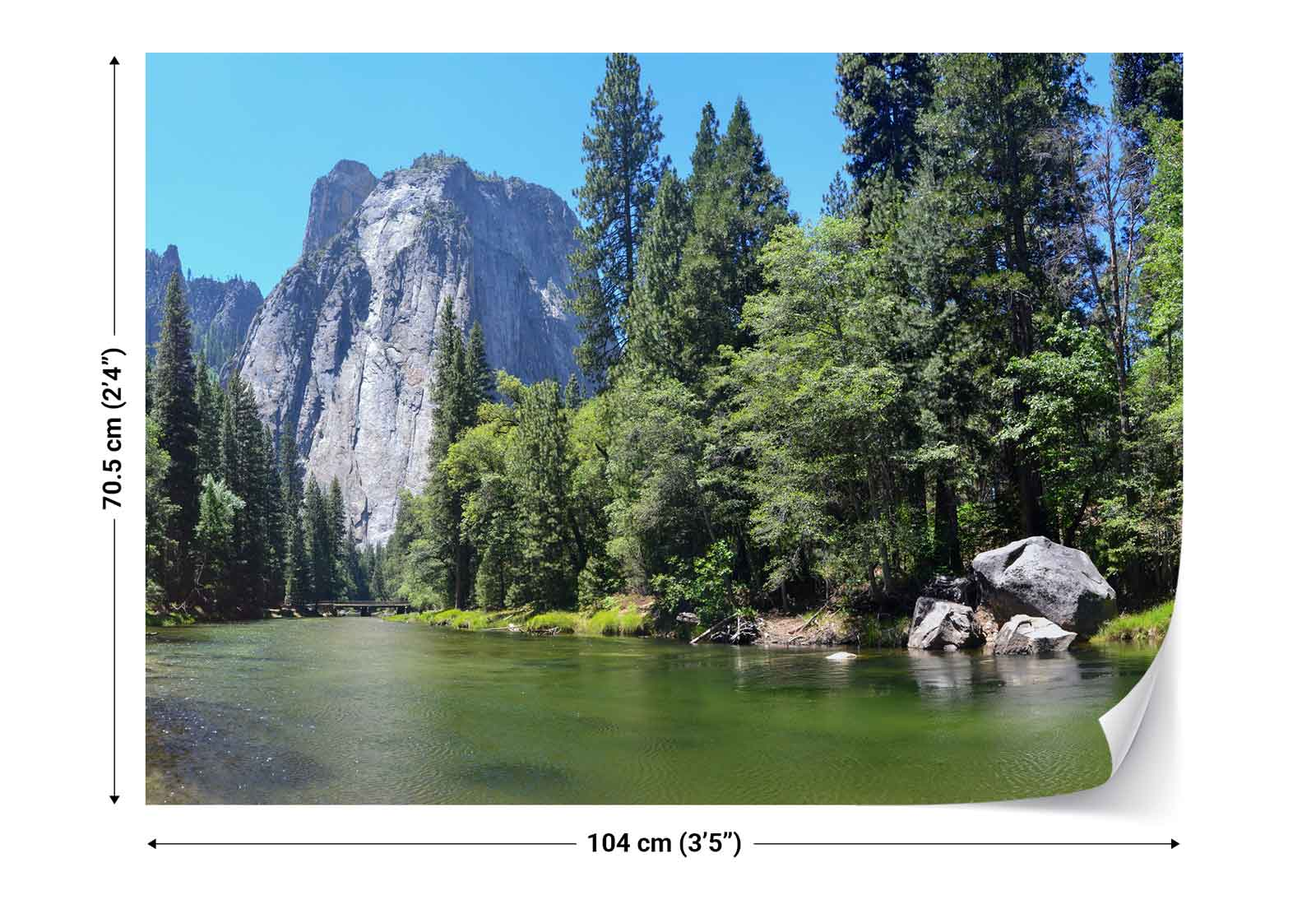 Yosemite nationalpark fluss natur vlies fototapete fw for Fenster yosemite