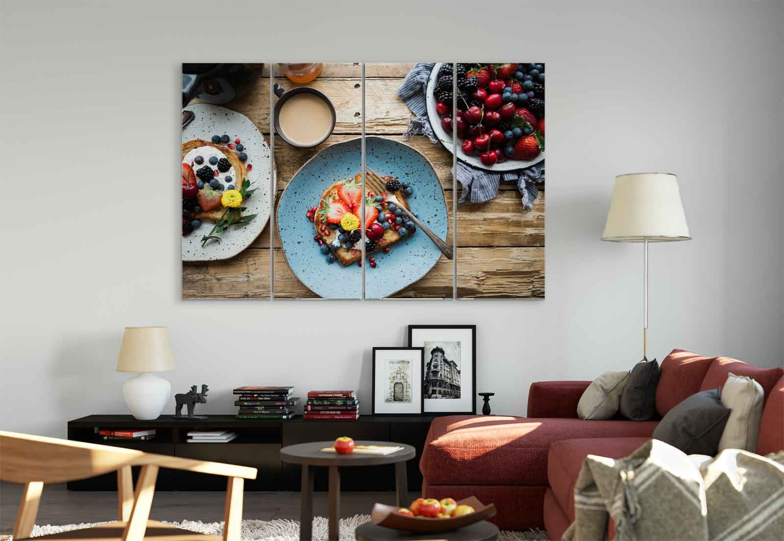 Breakfast Berries Toast Coffee Canvas Amp Glass Wall